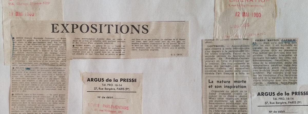 10-1960 gal.St Placide et paul Cézanne Paris