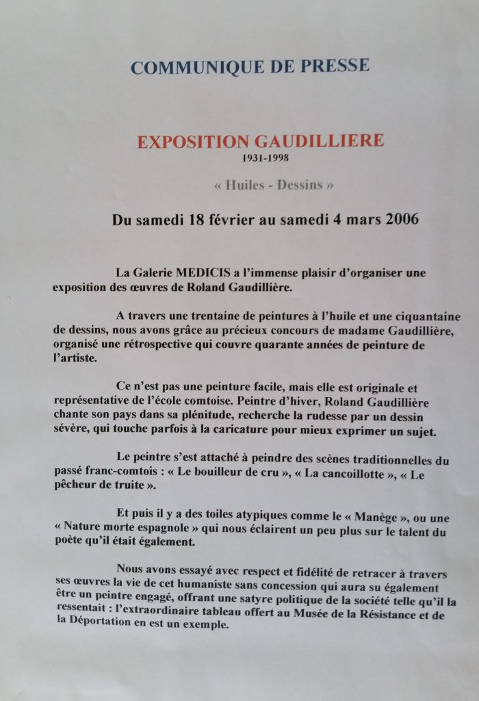 111-2006 communiqué de presse expo Médicis