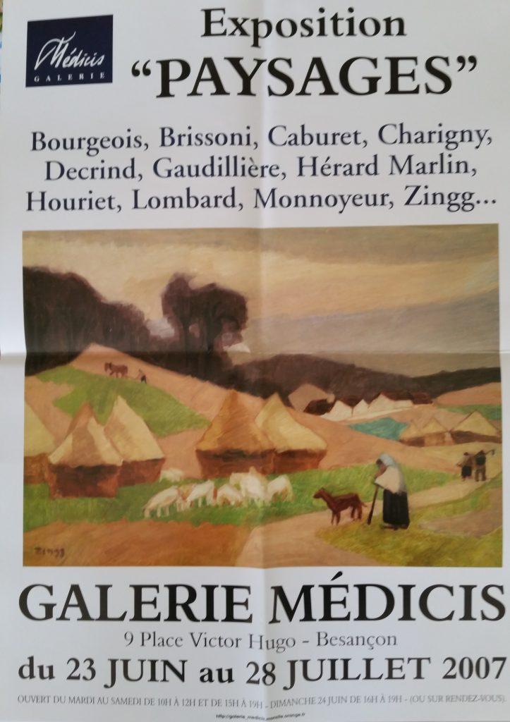 112-2007 affiche expo groupée Médicis