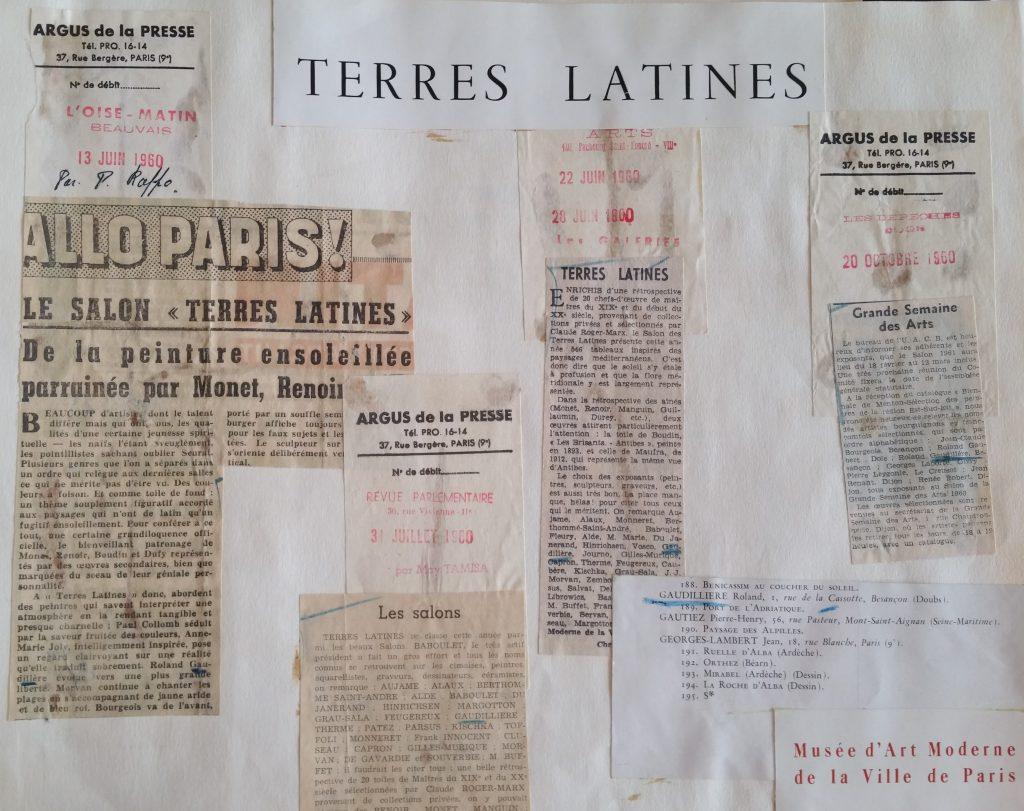 12-1960 expo groupée Terres Latines Paris