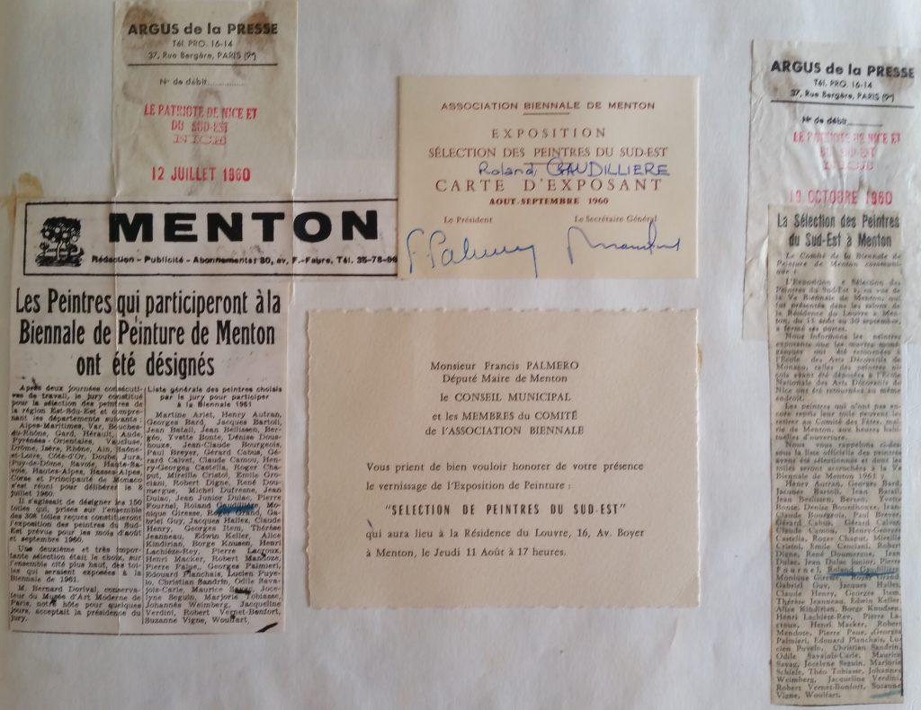 13-1960 expo groupée Biennale de Menton