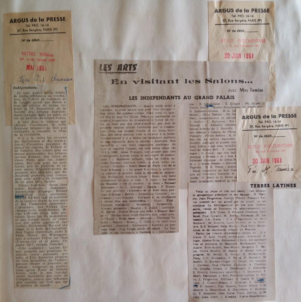 17- 1961 les indépendants au Grand Palais Paris
