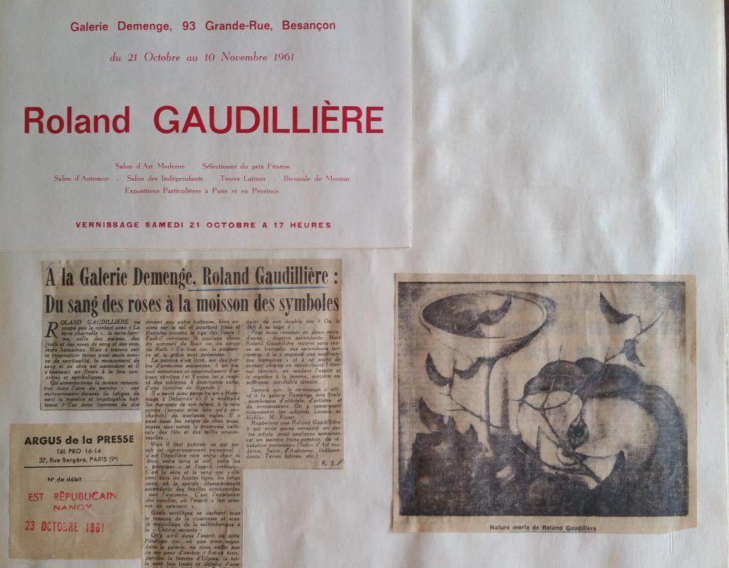 19-1961 expo gal.Demenge Besançon