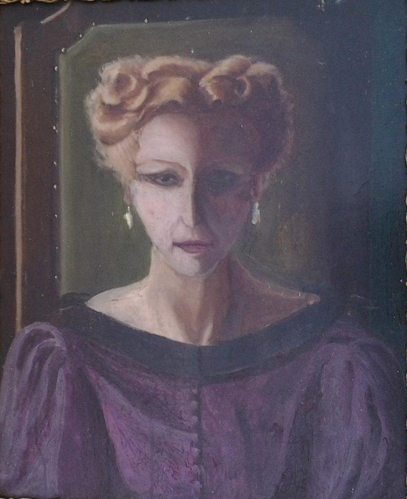 1950 portrait d'Elza,mére de l'artiste 0,60-0,40 isorel (2)