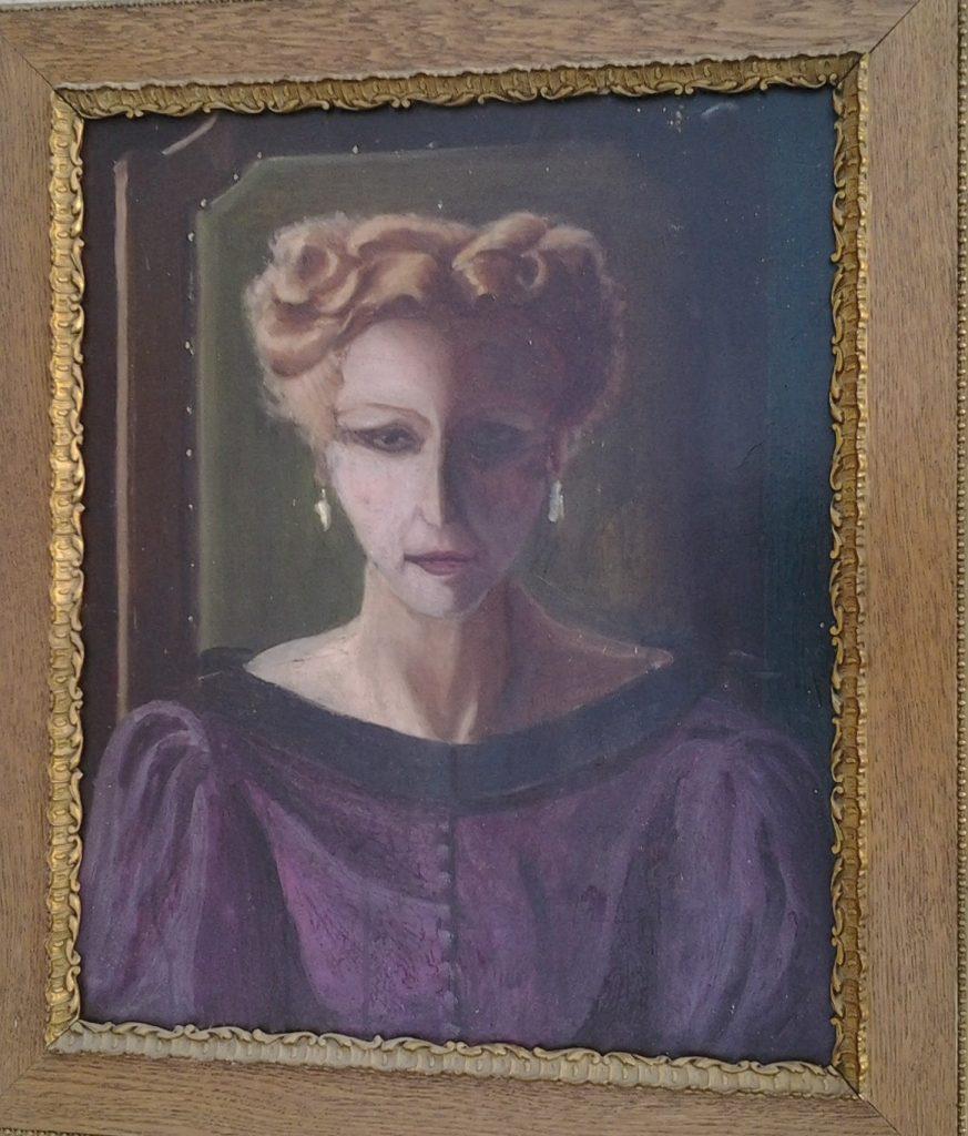 1950 portrait d'Elza, mére de l'artiste 0,60-0,40 isorel roland gaudillière