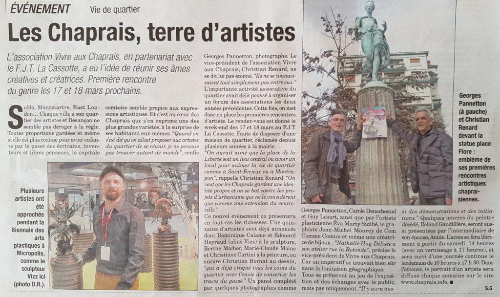 2018 17-18 mars Artistes des Chaprais Presse Bisontine