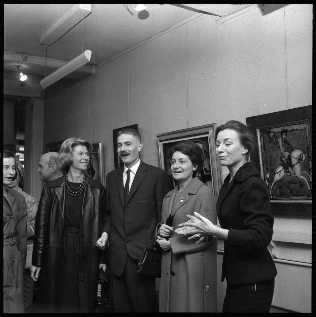 29-1962 Galerie Demenge Mme Gonez et sa fille, Mme Oudot,Lidvina Bernard Faille Site Mémoire Vive