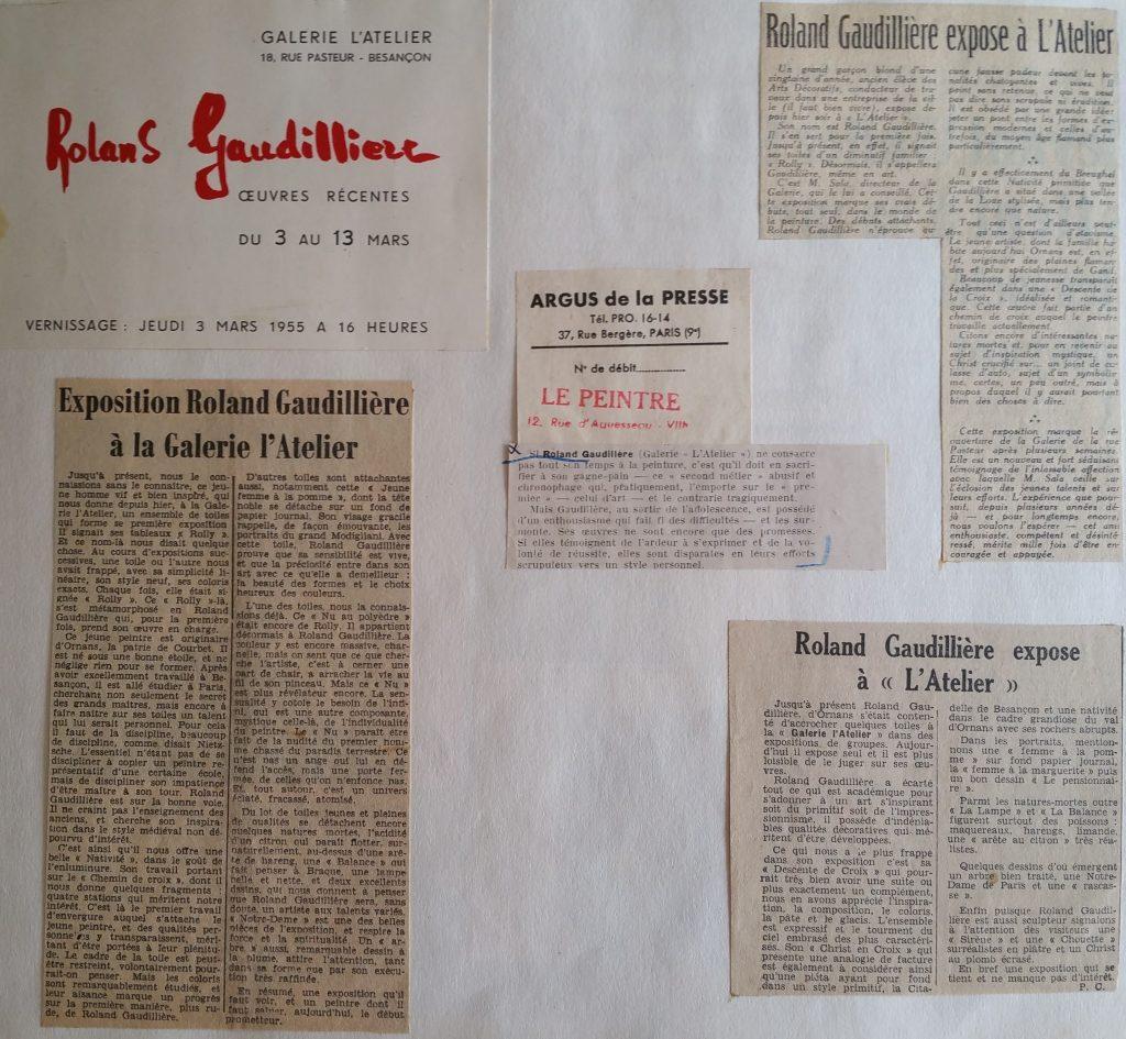 3-1955 expo gal.l'Atelier Besançon