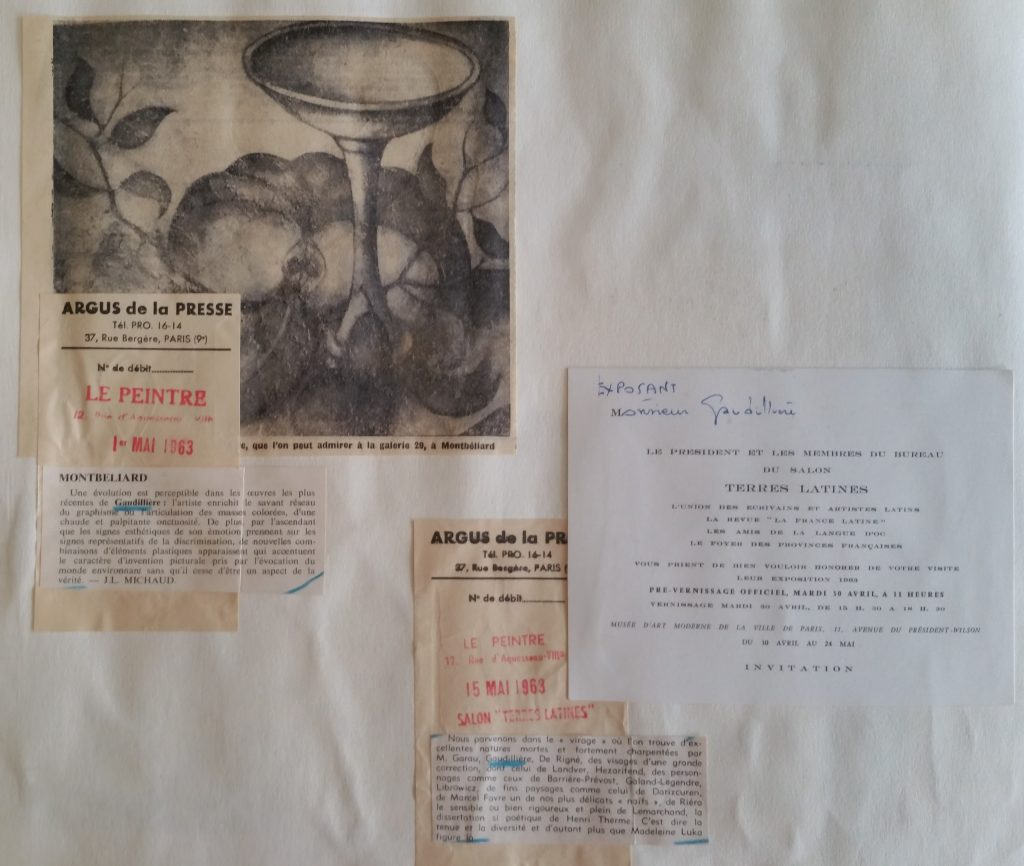 33-1963 expo groupée Terres latines Paris