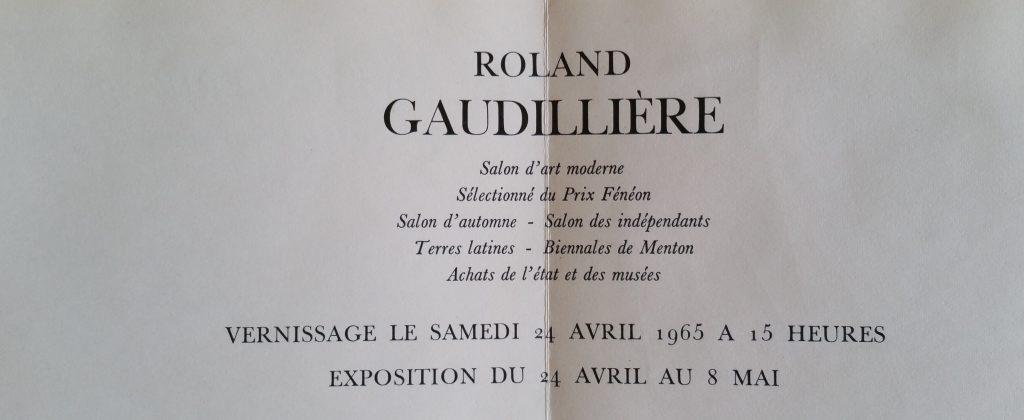 45-1965 carton d'invitation gal.29