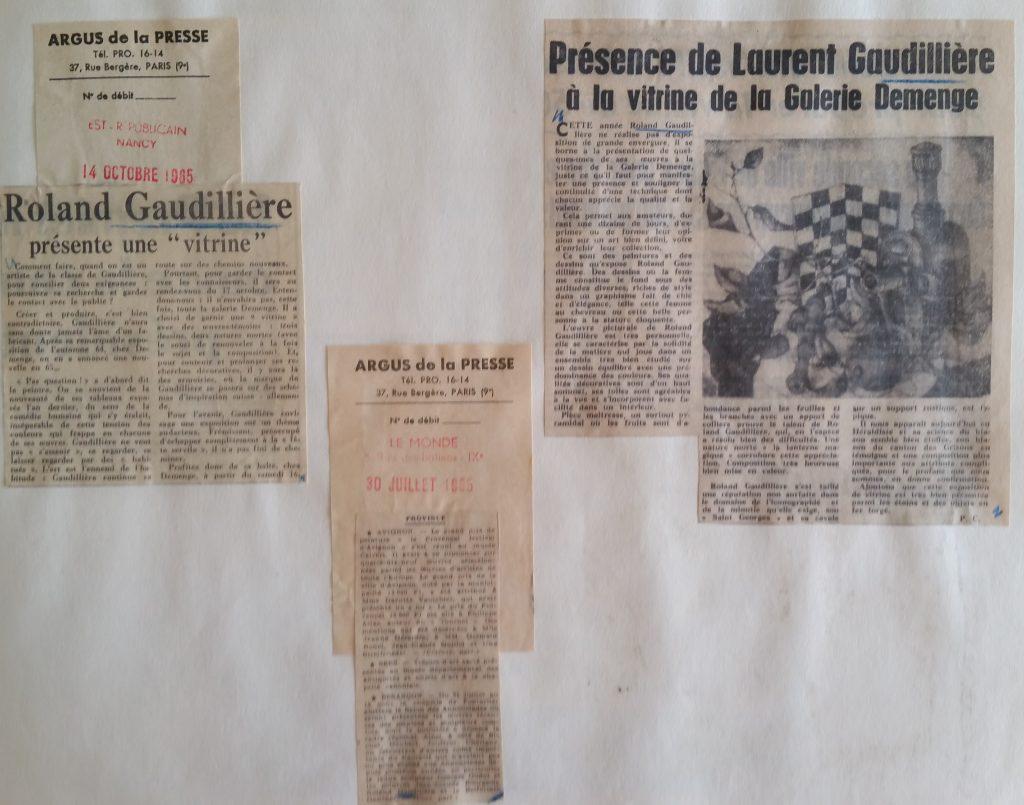 48-1965 vitrine Gaudillière gal.Demenge