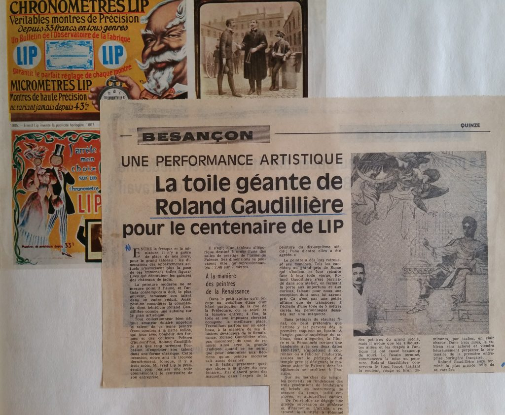 58-1967 la toile du Centenaire Lip