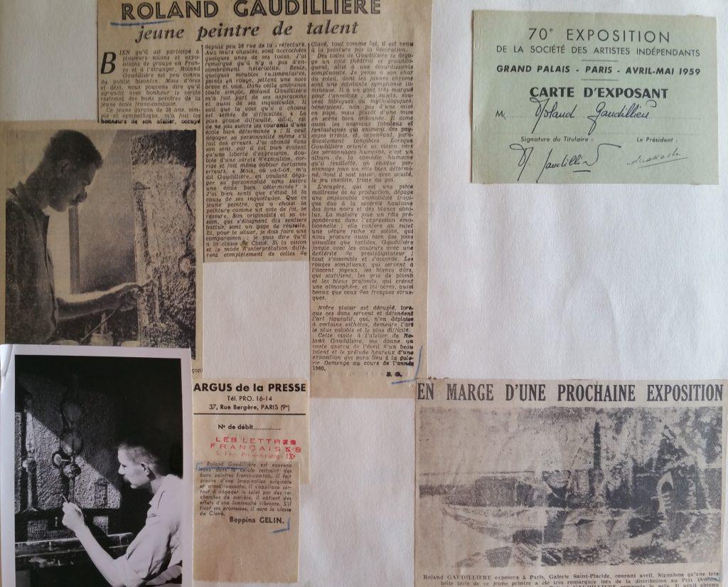 7-1960 expo gal.Demenge Besançon, 1959 expo groupée Paris gal.St Placide