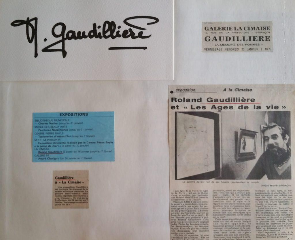 85-1981 expo gal.la Cimaise Besançon