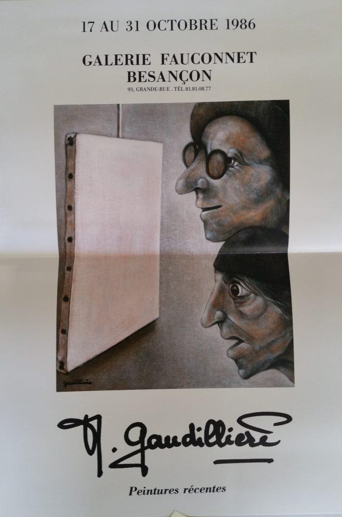 88-1986 affiche expo Fauconnet