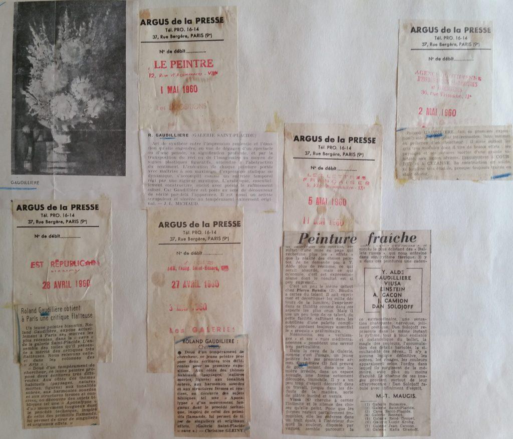9-1960 gal.St Placide Paris