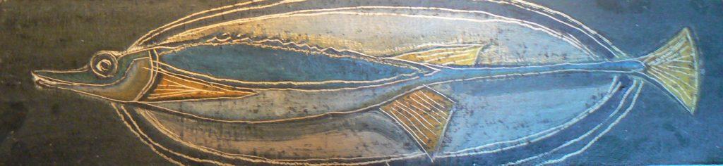 1953 poisson 0,50-0,16 isorel,non signé