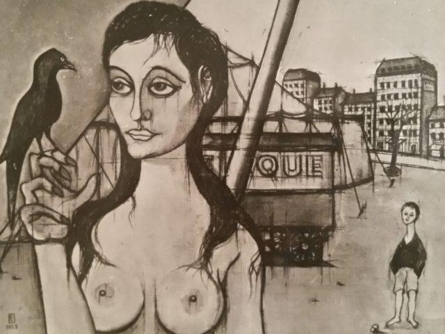 La jeune femme au corbeau