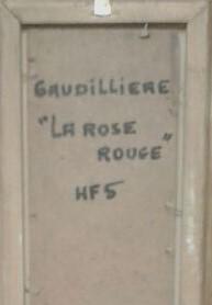 1960 la rose rouge verso