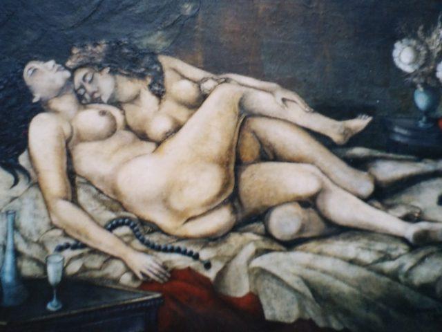 Les deux amies, ou Le sommeil, Hommage à Gustave Courbet