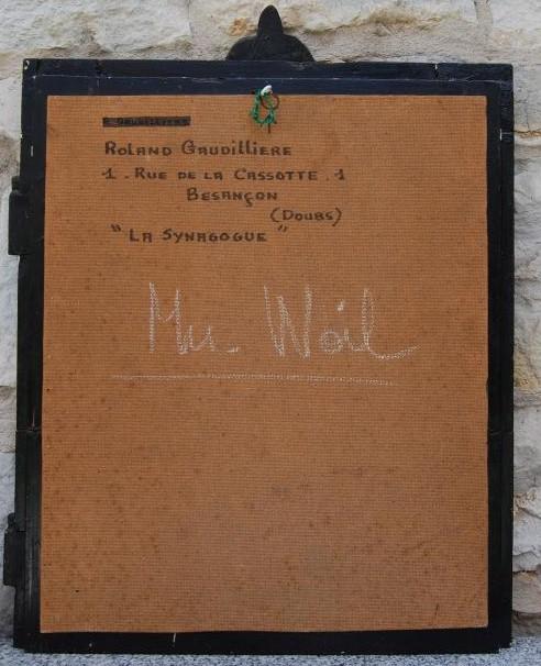 1965 la synagogue dite l'Espagnole verso