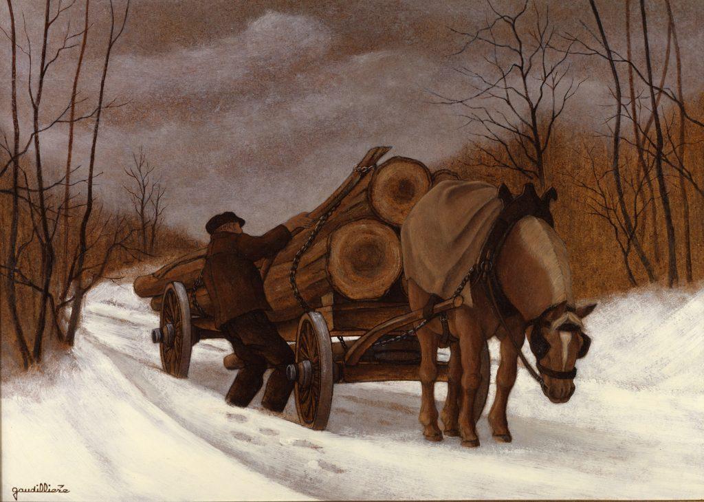 1988-4 bis l'arrimage des longs bois diapo Choffet