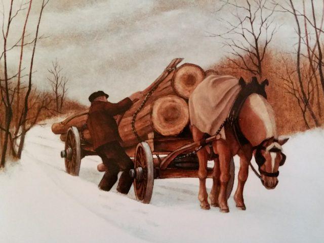 L'arrimage des longs bois ou Les longs bois