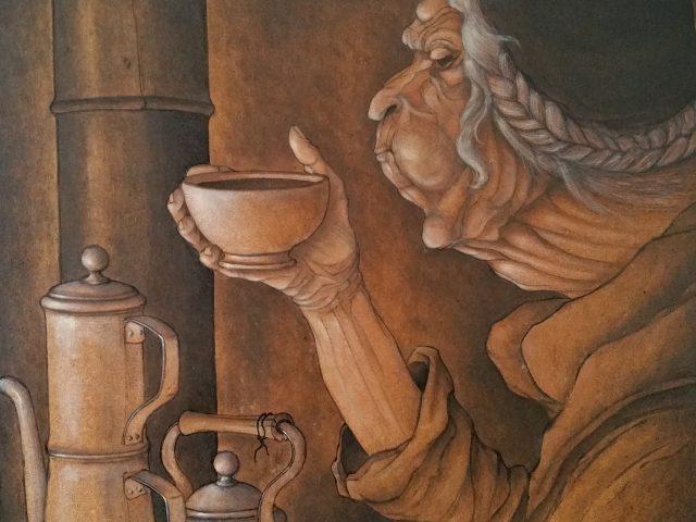 Le café noir,   hommage à mon maître N.E.
