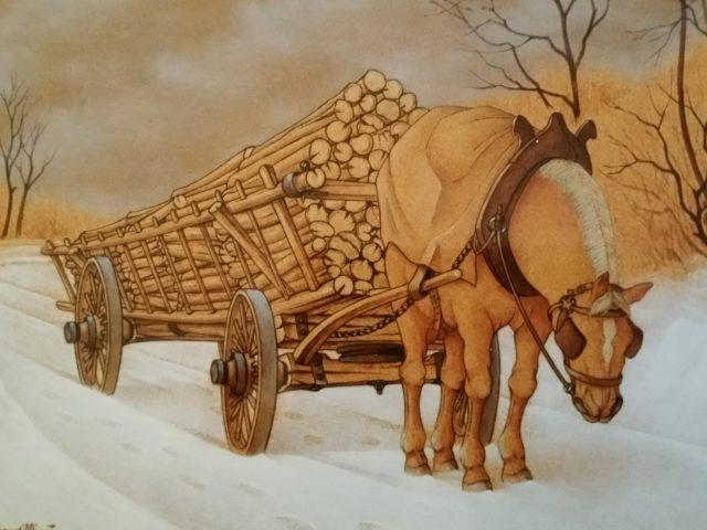 La voiture de bois