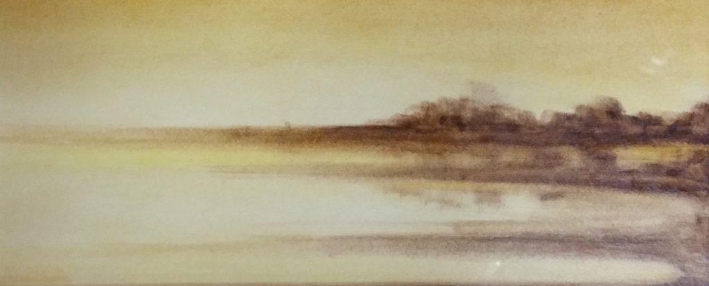 1974 l'aurore 0,11-0,27 huile sur papier