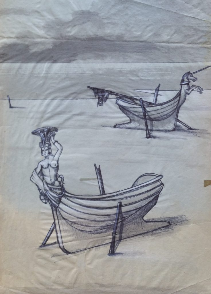1954-la-proueles-deux-barques-036-025-dessin-ecole-des-beaux-artsparisnon-signe