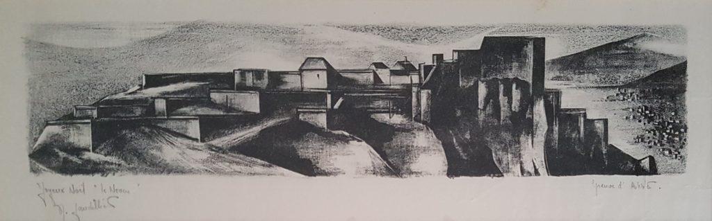 1970 la citadelle 0,15-0,46 litho E.A. Joyeux Noêl le neveu