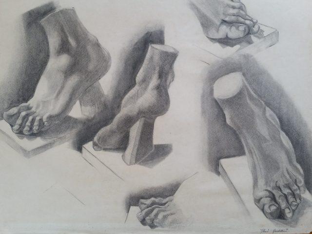 Étude de pieds