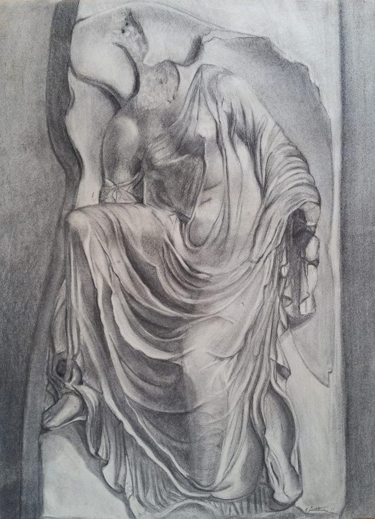 1952 le sommeil 0,63-0,48 étude dessin, Arts Décoratifs Paris