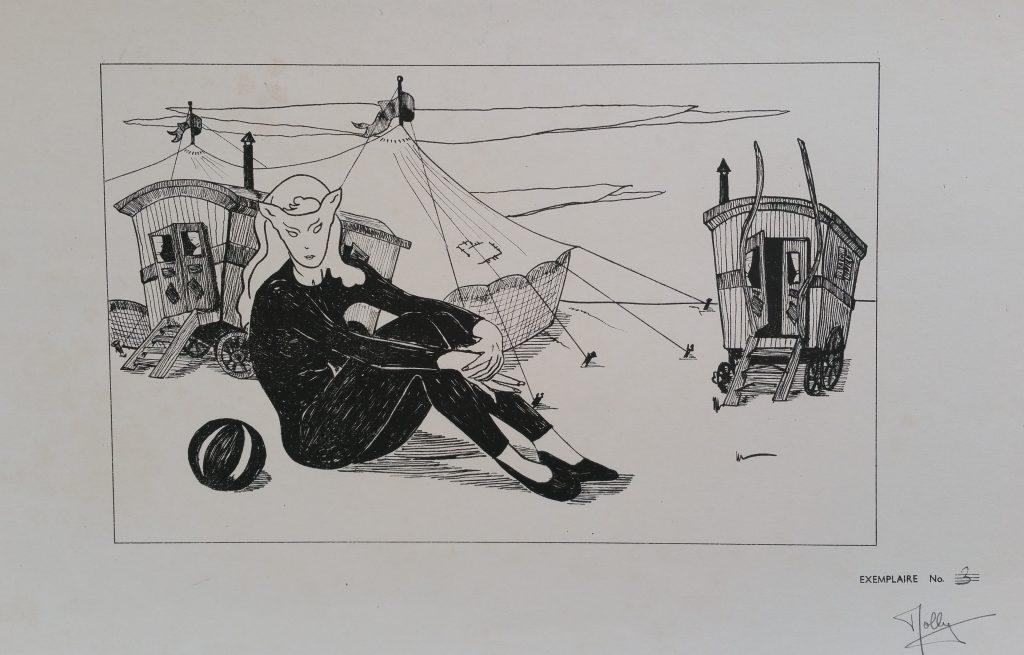 1954 le cirque 0,23-0,36 litho n°3 Arts Décoratifs Paris,signé Rolly