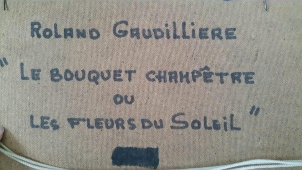 1977 le bouquet champêtre ou les fleurs du soleil verso