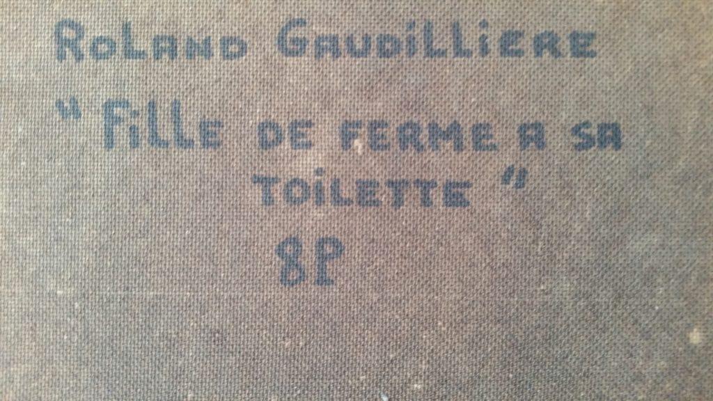 1980 fille de ferme à sa toilette verso