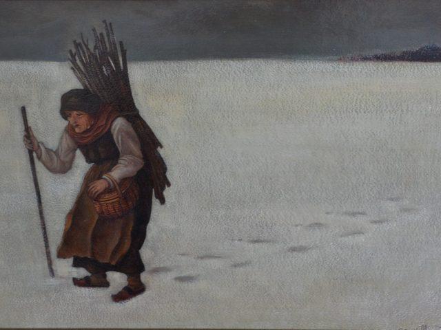 L'hiver – La vieille