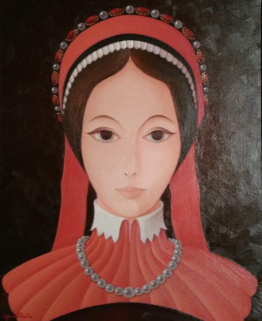 1983 la jeune fille aux rubans rouges 18F 0,46-0,38 toile (2)