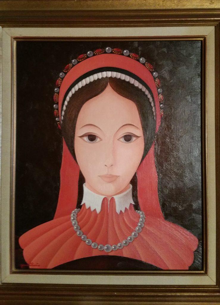 1983 la jeune fille aux rubans rouges 18F 0,46-0,38 toile