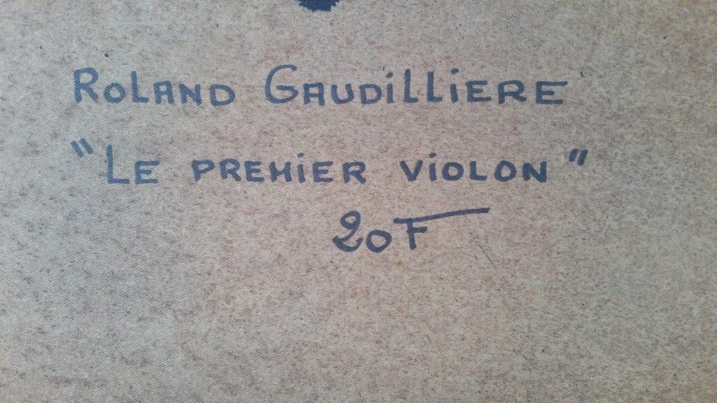1985 le premier violon verso