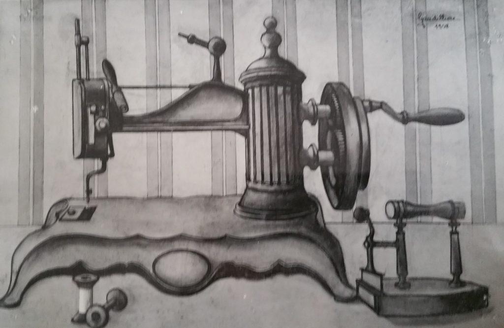 1958-3 la machine à coudre toile