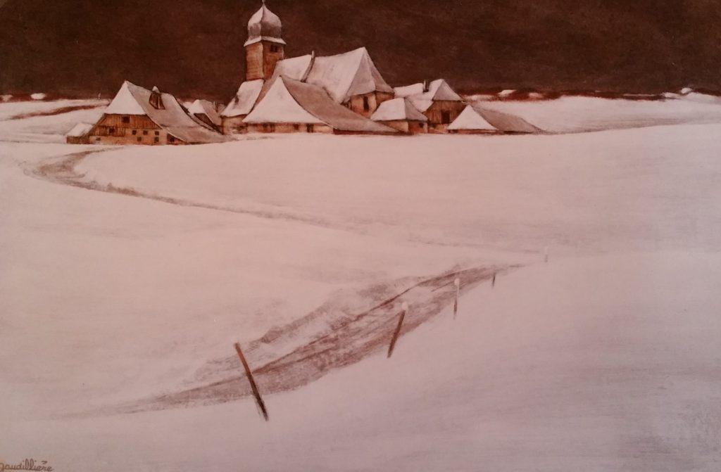 1986-13 le village sous la neige 10P 0,38-0,55 isorel