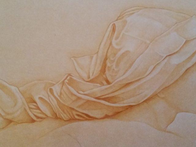 La jeune femme au voile blanc, hommage à J. Burns