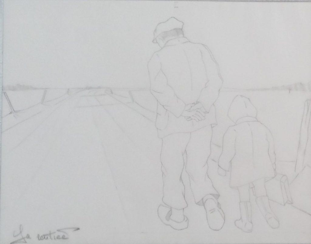 1995 la rentrée étude dessin sur calque
