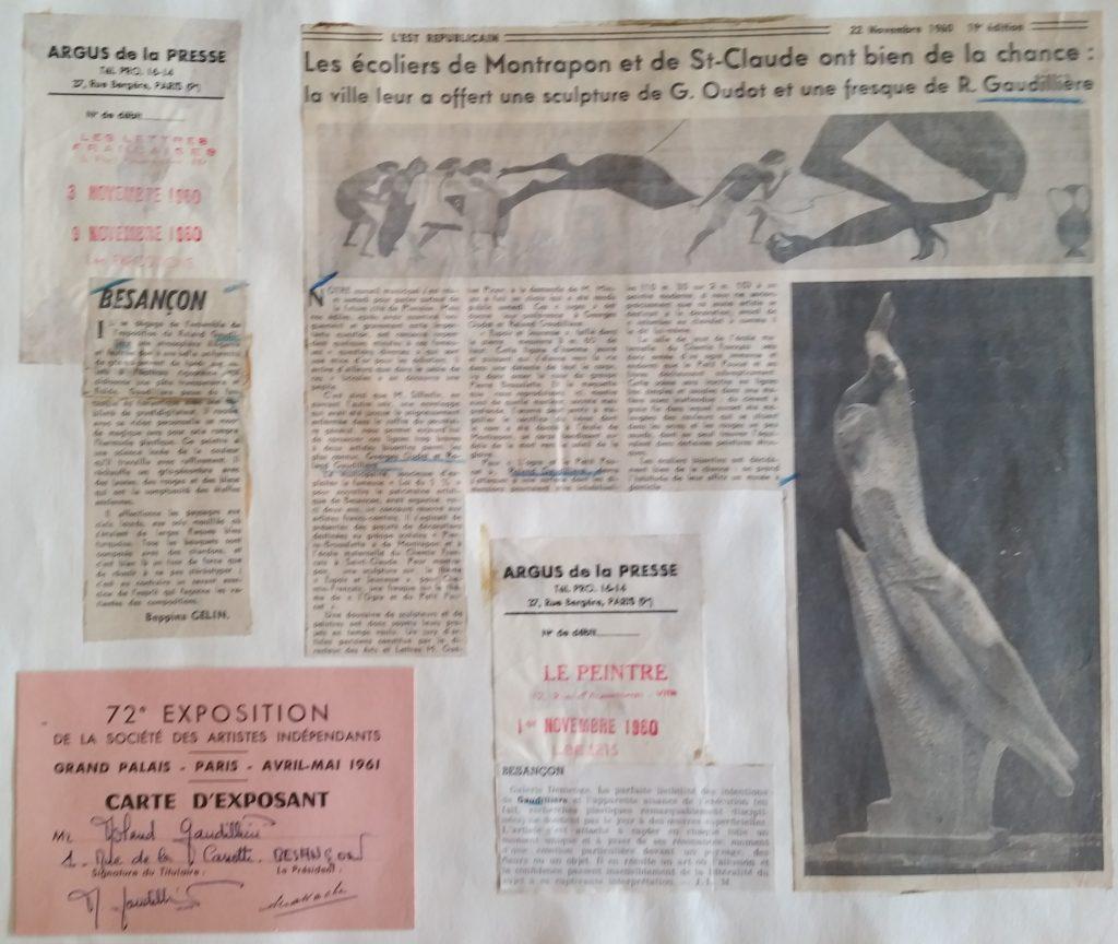 16-1960 fresque école,1961 sal.des artistes indépendants au Grand Palais Paris