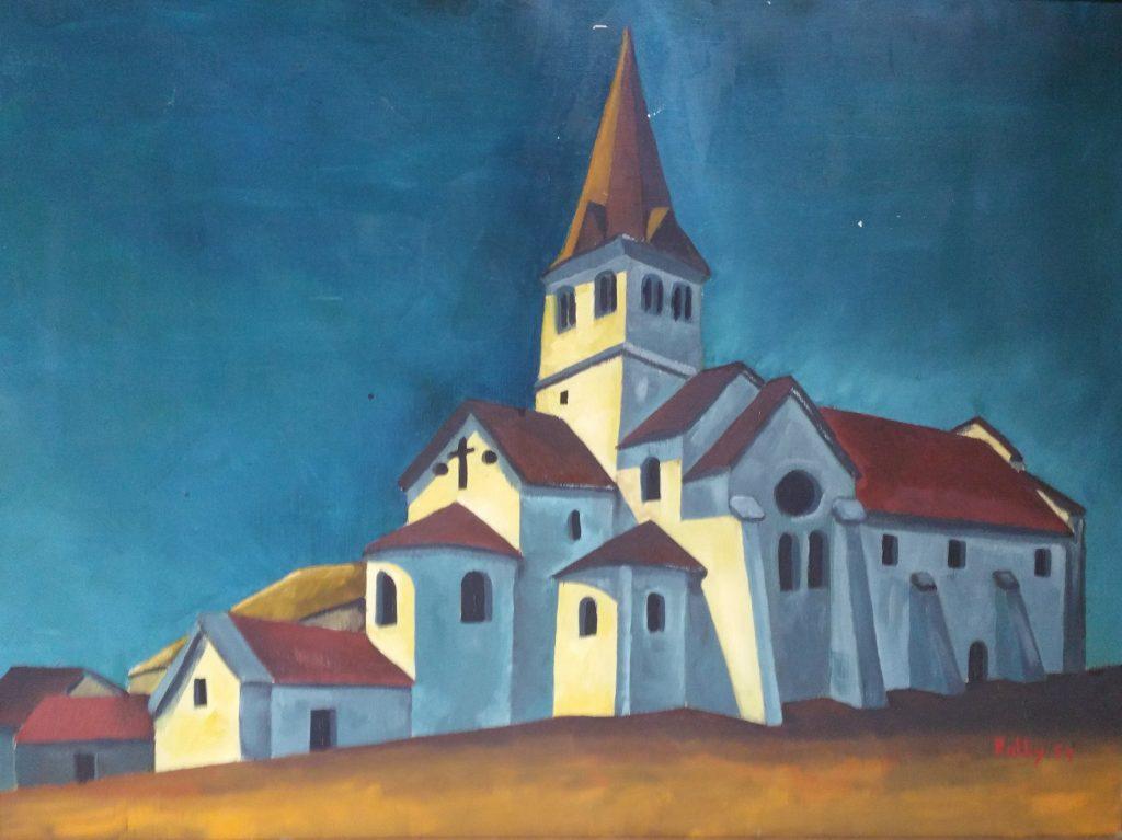 1954 l'église bleue 25P 0,60-0,80 toile