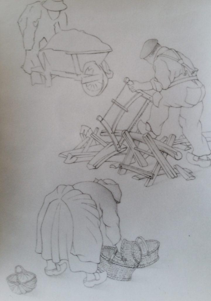 18-1996 3 personnages étude