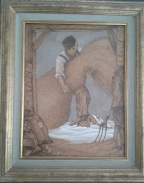 1991 la botte de paille,hommage à mon maitre N.E. 5F 0,41-0,24 isorel
