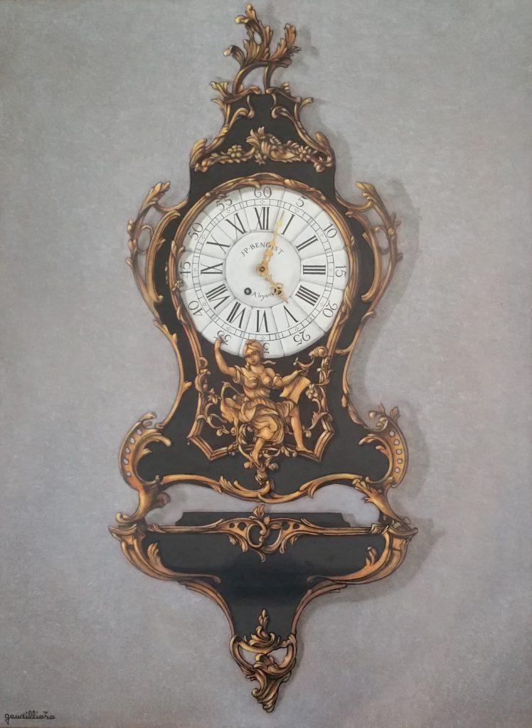 1986 le cartel Louis XV 25P 0,81-0,60 trompe l'oeil + mécanisme isorel